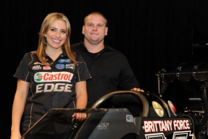 Brittany Force and System 51 President Jeremy Porrazzo