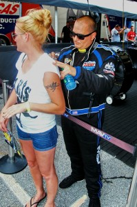 Despite enduring a painful back condition, Brandon Bernstein still made time for the fans at Atlanta Dragway.