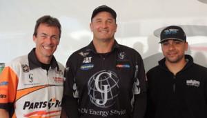 L-R: Clay Millican, Bob Vandergriff Jr. and J.R. Todd