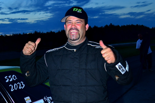 Chris Tuten reacts after winning the Outlaw Drag Radial portion of No Mercy IV at South Georgia Motorsports Park.