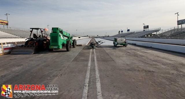 Dragstrip Construction at Wild Horse Pass Motorsports Park