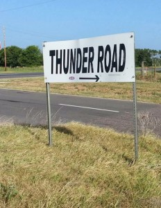 Thunder Road sign