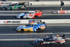 Top to bottom: John Force, Jack Beckman, Matt Hagan and Cruz Pedregon