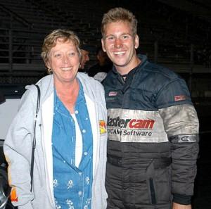 Sean Bellemeur with mom, Nancy
