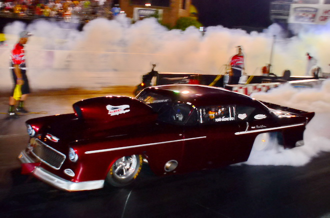 Toni Moretto arrived from Spruce Grove, Alberta, to take the provisional number-one spot in Top Sportrsman with a 4.040 pass at 199.23 mph in her beautiful '55 Chevy.