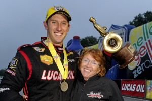 Morgan Lucas with his mother, Charlotte
