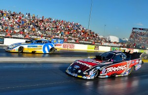 Courtney Force (near lane) vs. Matt Hagan