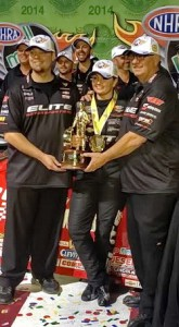 L-R: Rickie Jones, Erica Enders-Stevens, Rick Jones