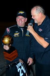 Brian Gahm (l) and Brian Olson