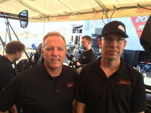 Top Fuel crew chief Todd Smith (left) and Ronnie Thompson, previously of Al-Anabi Racing.