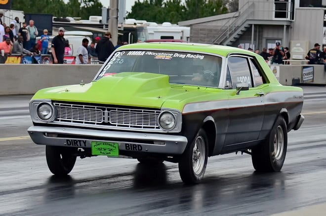 Despite breaking out with a 6.982 pass in round one of 7.0 index action, Bill Jones and his '68 Falcon were the lesser of the offenders and advanced to round two. Unfortunately, the Lake City, FL, driver repeated the transgression with a 6.975 run in round two, losing to eventual event winner Kenny Ford.