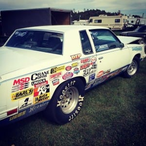 North races this Cutlass in Stock