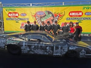 """Mike Knowles """"Mob Edition"""" Pro Mod Mustang took home the Aerospace Excellence in Engineering Award at the 2015 NHRA Gatornationals"""