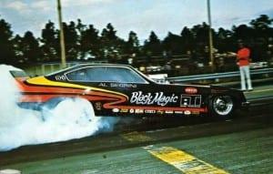 Al Segrini's Black Magic Funny Car sponsored by ATI.