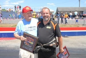 North Carolina Drag Racing Hall of Fame member Don Plemmons and his former driver, Pro Mod race winner Todd Tutterow.