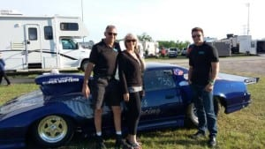 River with wife, Paula, and son, Robert, and the family's other River Racing hot rod.