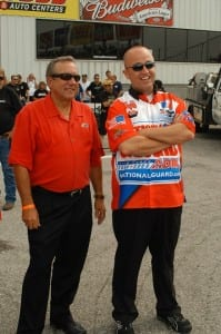 Schumacher with ADRL president Kenny Nowling