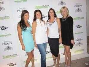 Leah Pritchett, Melanie Troxel, DeJoria, and Courtney Force at DeJoria's debut party.