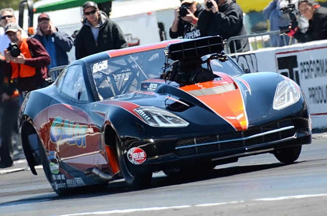 Kevin Rivenbark improved his number-one qualifying time to 3.770 at 199.70 mph in his semi-final-from-Tulsa win during round two of Pro Boost qualifying at Rockingham. He will have lane choice over Melanie Salemi, who ran 3.888 at 189.42 in beating Alan Pittman in the other semi postponed from last month in Tulsa. Salemi will be going after her second-straight PDRA win at Rockingham after winning the Pro Boost title there last fall.