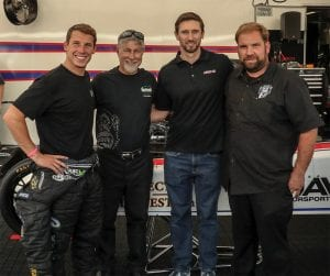 Alex and his father, Kenny, along with Morgan Lucas (middle right) and Anthony Dicero (far right).
